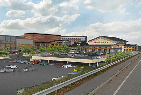 Rendering of Market and Main Trader Joe's Street View