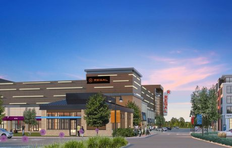 Rendering of Market and Main with Regal Cinema