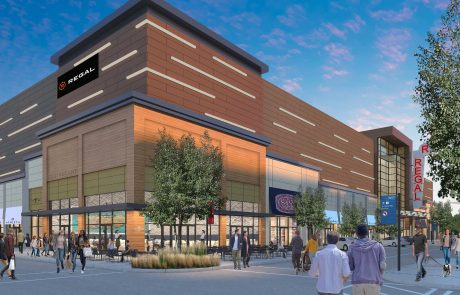 Rendering of Market and Main Cinema and Retail Area